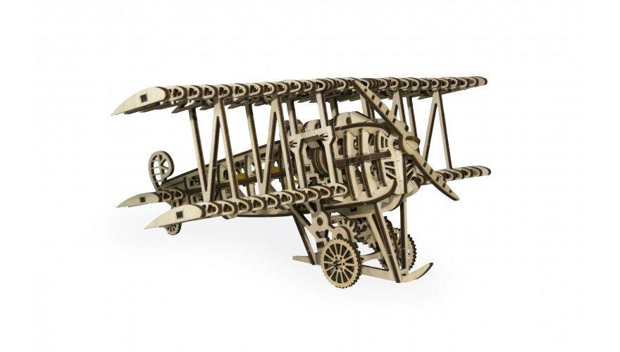 3D пазлы: Механический 3D-пазл из дерева Wood Trick Самолет
