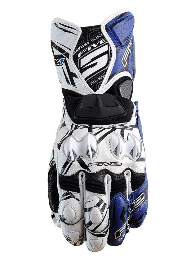 Five Rfx-1 Attack мотоперчатки кожаные синие (размер: xl, цвет: синие)