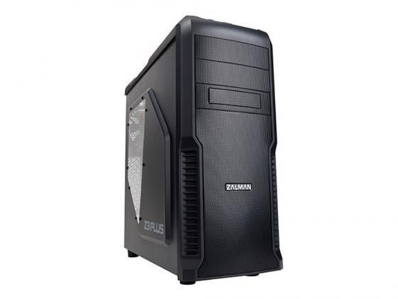 Корпус ATX Zalman Z3 Plus Без БП чёрный
