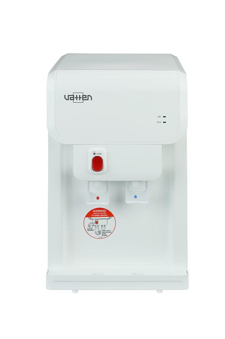 Кулер для проточной воды (водораздатчик) Vatten OD19WK настольный, с нагревом и с охлаждением