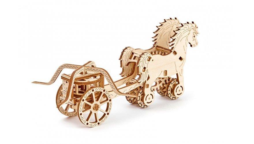 3D пазлы: 3D-пазл механический Wooden.City Колесница Да Винчи