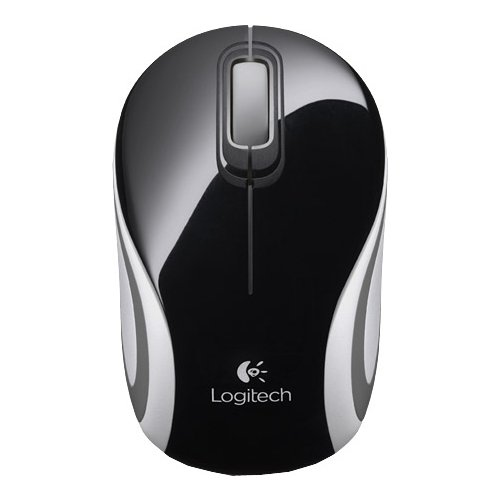Мышь Logitech Wireless Mini Mouse M187 Black-White USB (910-002731)
