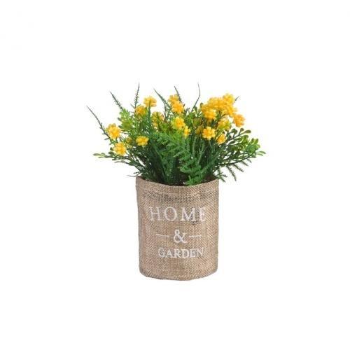 Декоративные цветы ENGARD, Цветущий кипарис, 8*8*17 см, желтый