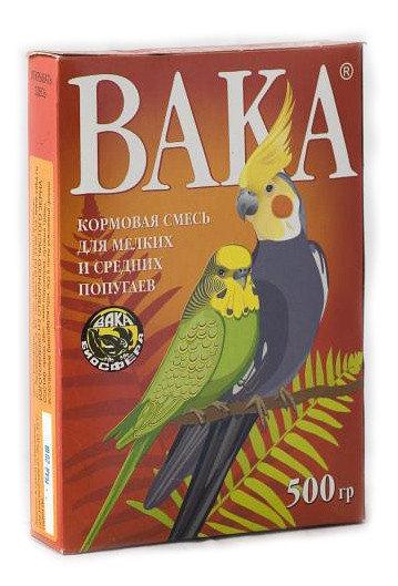 """Кормовая смесь для мелких и средних попугаев """"Вака"""", 500 г"""