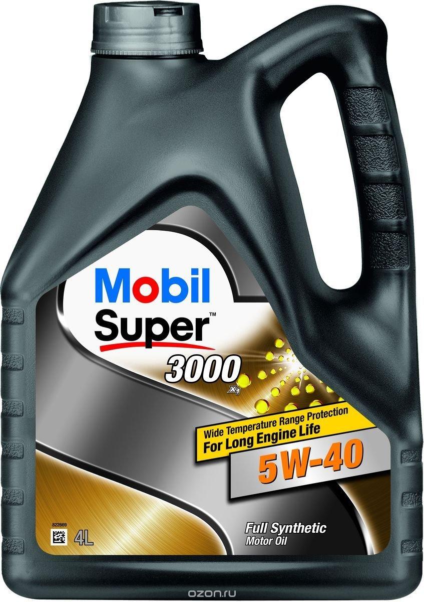Масло моторное Mobil Super 3000 х1, синтетическое, 5W-40, 4 л