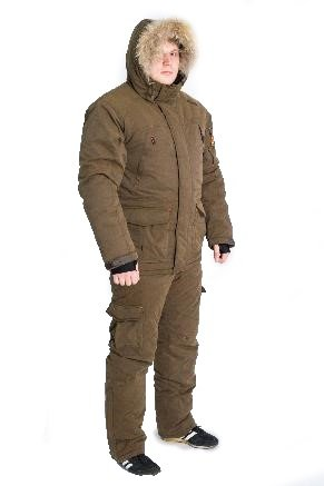 Зимний костюм для охоты и рыбалки TRITON Hunter Pro -45 (Твил, т. Коричневый)