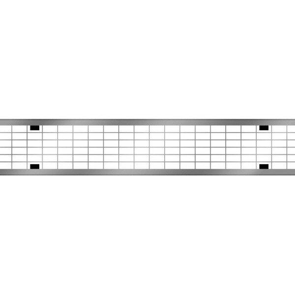 Решетка для каналов ACO Multiline V100 ячеистая (оцинкованная, В 125)