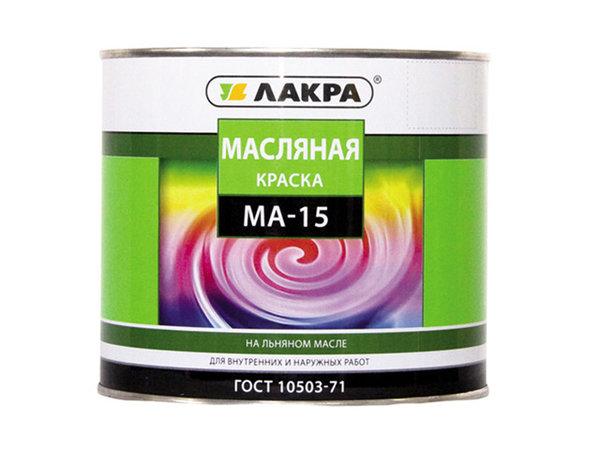 краска масляная лакра /ма-15/ салатовый 1,9кг