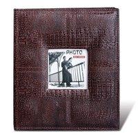 Фотоальбом BRAUBERG на 120 фото 10х15 см, 20 магнитных листов, обложка под кожу, рамка для фото