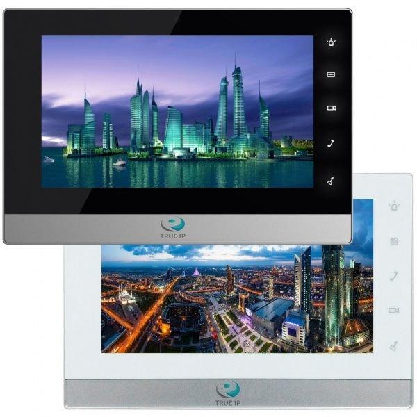 Домофон True IP TI-2750BS (черный с серебром) TI-2750WS (белый с серебром)