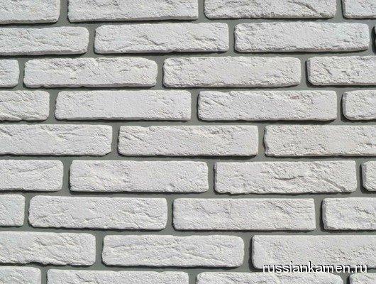 Искусственный камень Кирпич Антик белый 1м2