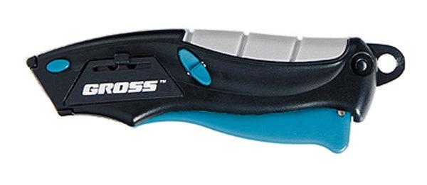 Нож-авто выброс/возврат лезвия 100мм +2 лезвия GROSS78873