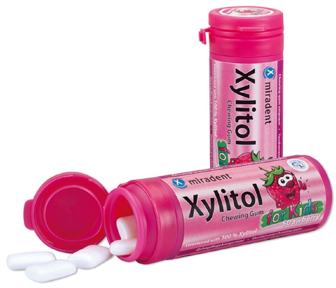 Жевательная резинка Miradent Xylitol For Kids Земляника