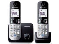 Радиотелефон DECT Panasonic KX-TG6812RUB Черный/Серебристый
