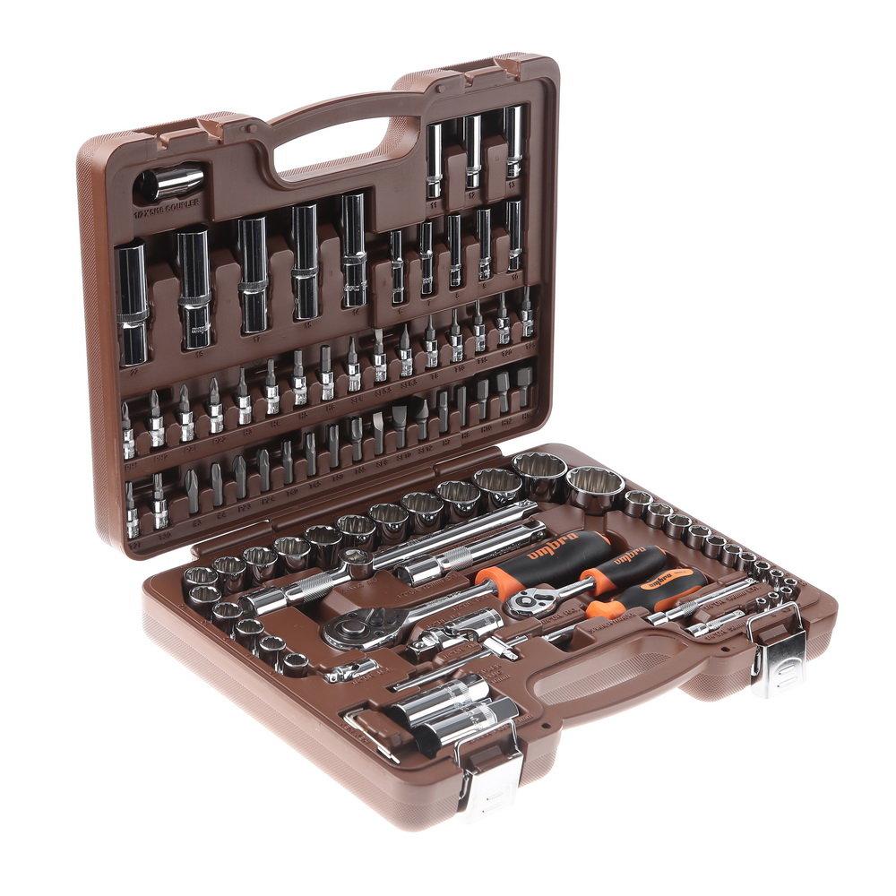Универсальный набор инструмента с головками торцевыми 12-гранными 1/4, 1/2dr (94 предмета) Ombra Omt94s12