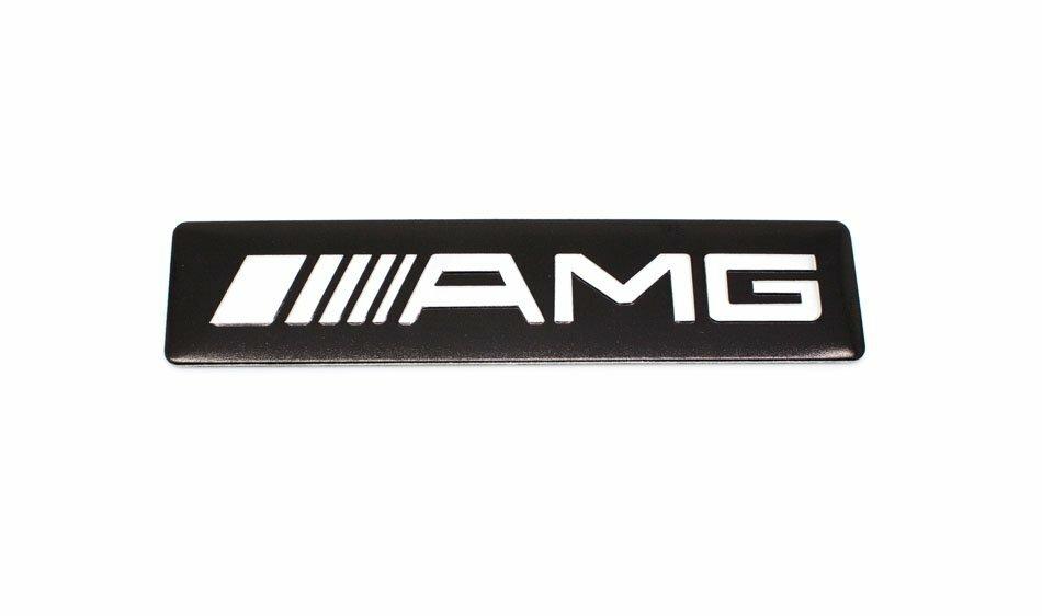 Табличка AMG черная широкая