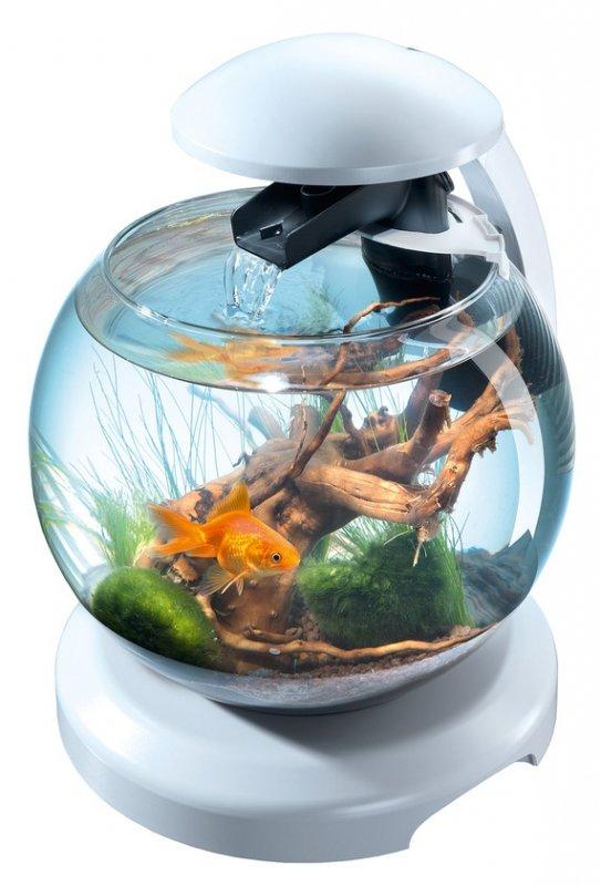 Аквариум круглый TETRA Cascade Globe 6.8 литров, 27,9 диаметр, белый