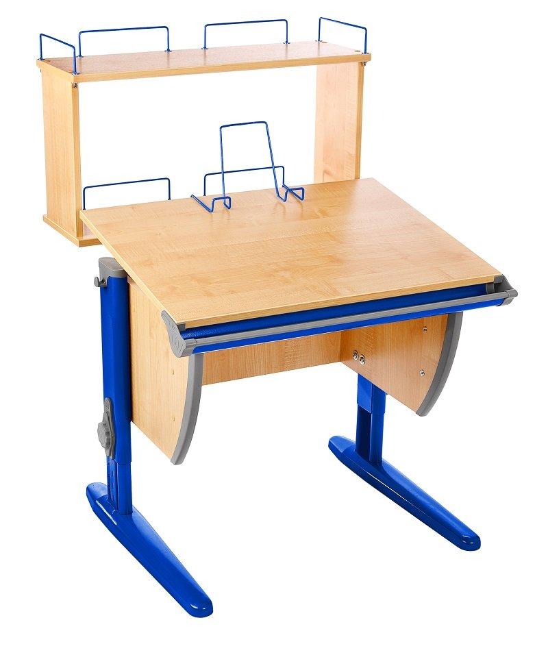 Детский стол трансформер сут 14-01д клен/синий без стула