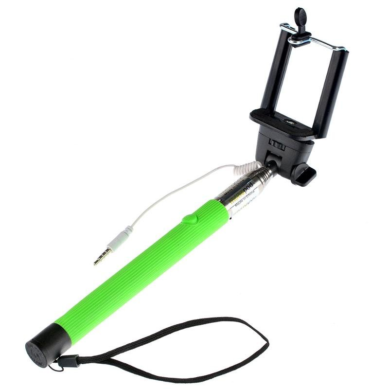 Монопод для селфи Prime Simple series, проводной, зеленый
