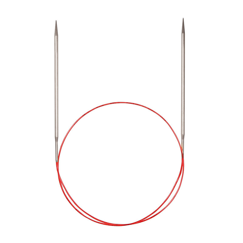 Спицы никелированные круговые с удлиненным кончиком, №5, 80 см