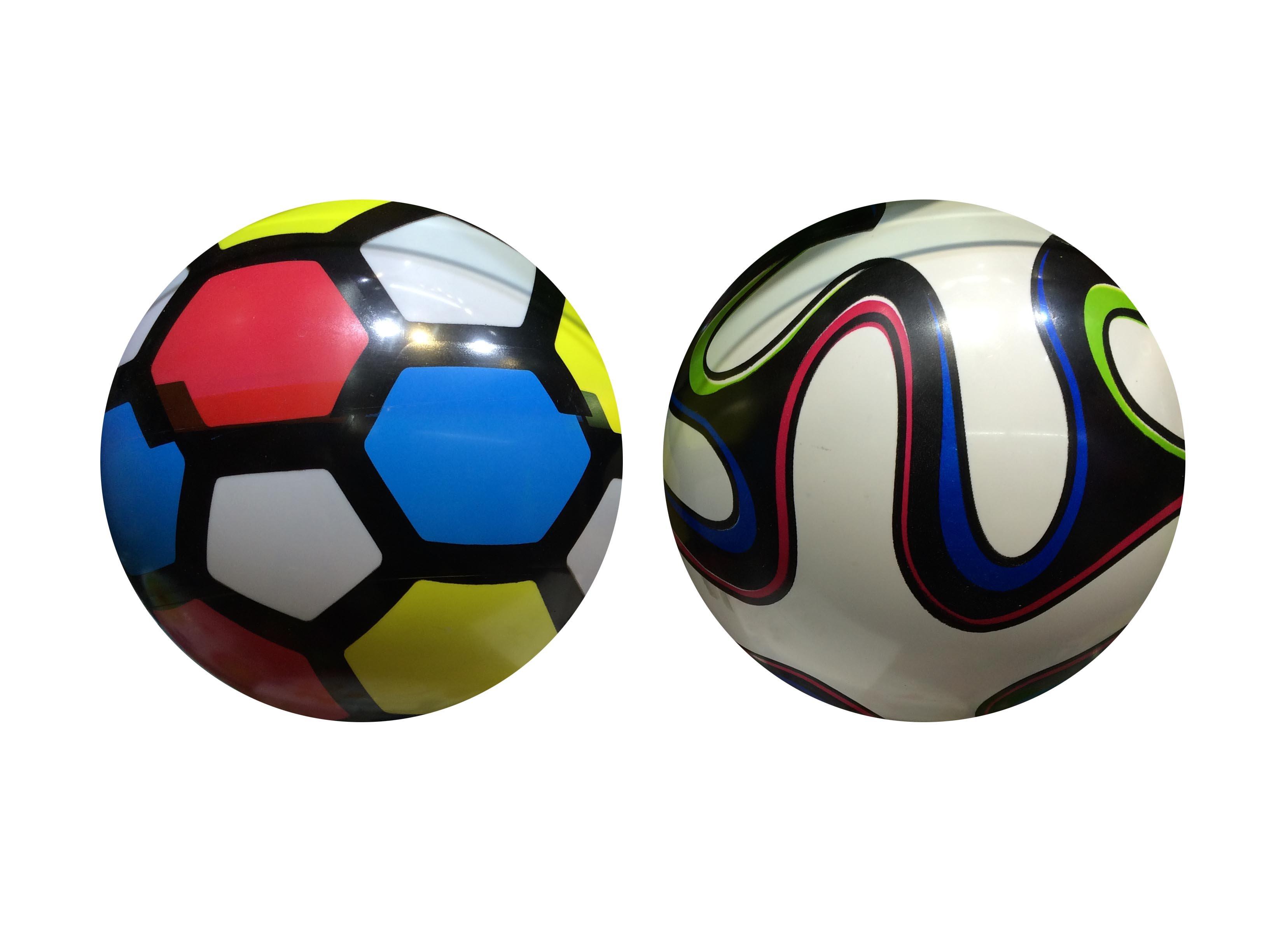 Мяч 1 TOY Разноцветный 23 см.
