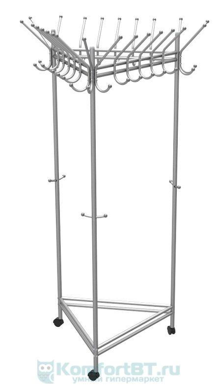 Вешалка для одежды Мебелик На колесах Пико 21 металлик