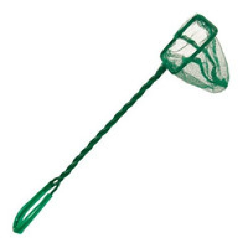 Аксессуары для аквариумов Trixie 8002 Сачок с крупной сеткой зеленый 120*75мм, 34гр, 34 гр