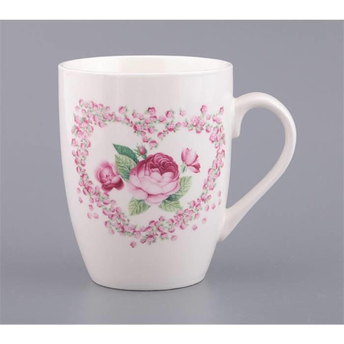 """LEFARD Для горячих напитков 770-123 кружка """"роза"""" 350 мл. (кор=48шт.) фарфор"""
