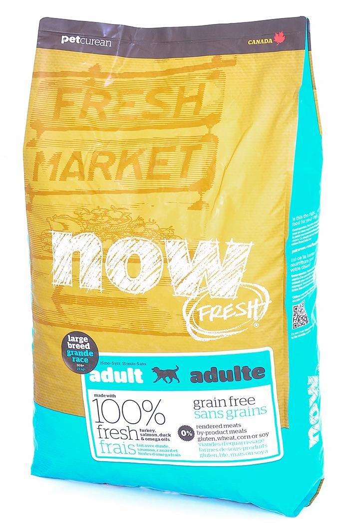 NOW Natural Holistic Fresh Grain Free Adult Large Breed Recipe корм для взрослых собак крупных пород, беззерновой, с индейкой, уткой и овощами, 11,35 кг