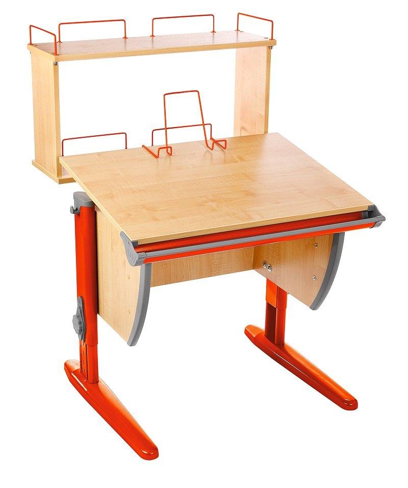 Детский стол трансформер сут 14-01д клен/оранжевый без стула