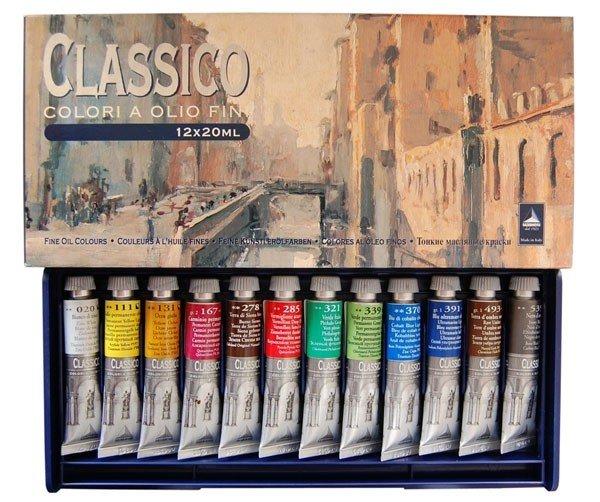 Наборы масляных красок Maimeri Набор масляных красок CLASSICO 12цв. по 20мл, пластиковая уп-ка