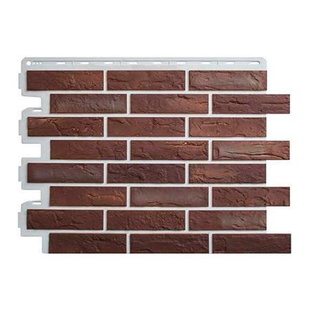 Цокольный сайдинг (фасадные панели) Кирпич Рижский - цвет 01 (59см)
