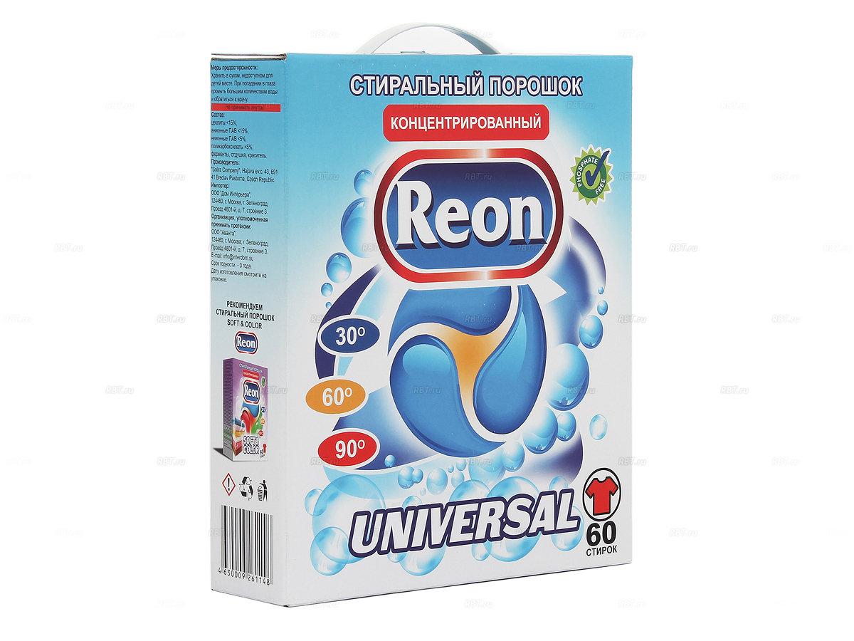 Средства для стирки и от накипи Reon 02-009 universal стиральный порошок арт. (3 кг)