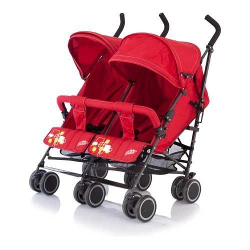 78051 - Коляска-трость для двойни Baby Care - Citi Twin, red