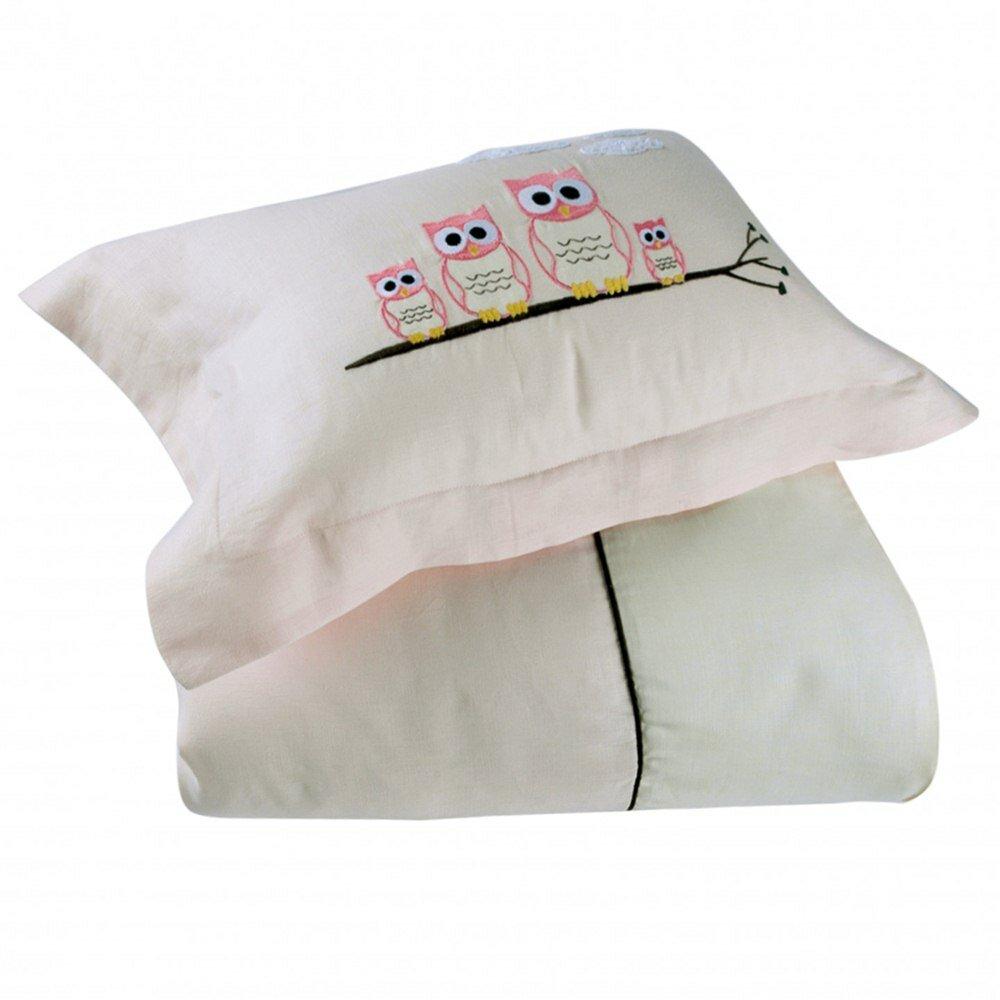 Детское постельное белье The little casual Nathalie Полуторный слоновая кость/розовый