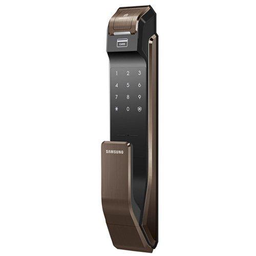 Врезной биометрический замок Samsung SHS-P718 XBU Brown