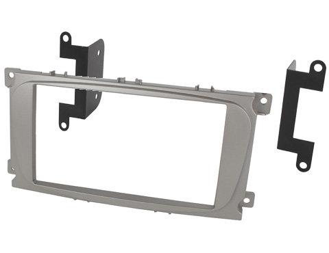Переходная рамка Intro RFO-N15S для Ford Focus 2 рестайл, Mondeo 07+, S-Max, Galaxy 2DIN Silver (крепеж)