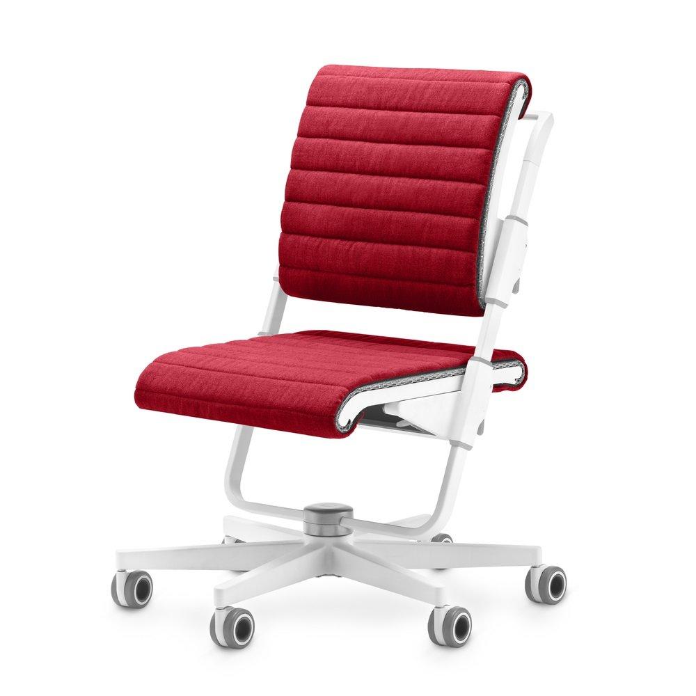 Moll Детский стул S6 Белый подушки для сидения и спинки Красный