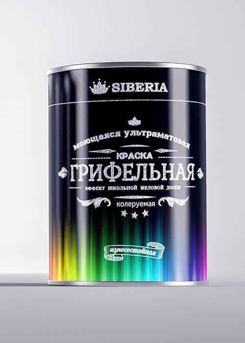Siberia Грифельная краска колеруемая (прозрачная, база C)
