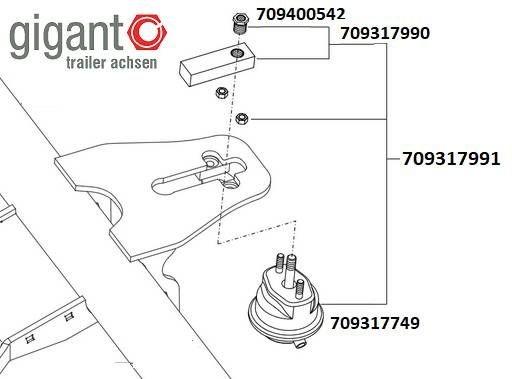 Камера блокирующая с ригелем GIGANT 709317991