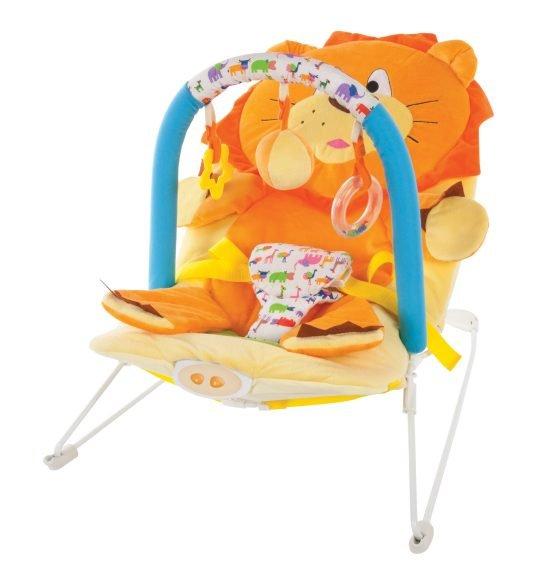 """Жирафики Кресло-качалка """"Львёнок"""" с 3-мя развивающими игрушками, вибрацией и музыкой"""