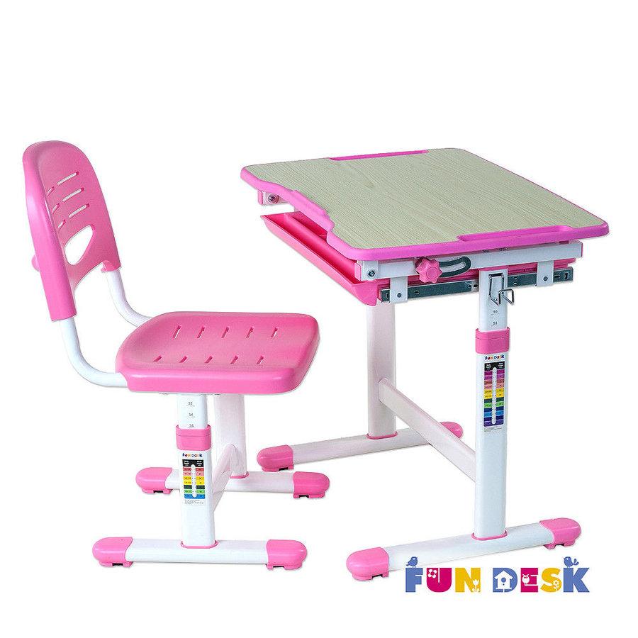 Растущая парта и стул FunDesk Piccolino Розовый