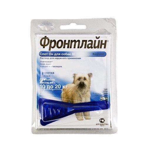 Инсектоакарицид Фронтлайн Спотон М для собак от 10 до 20кг 042272312