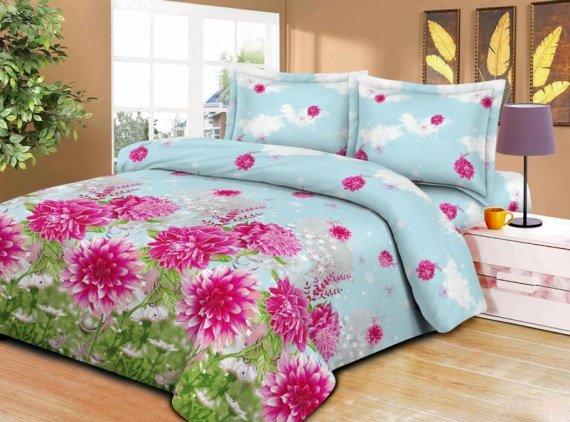 Комплект постельного белья «Астры» Евростандарт 2