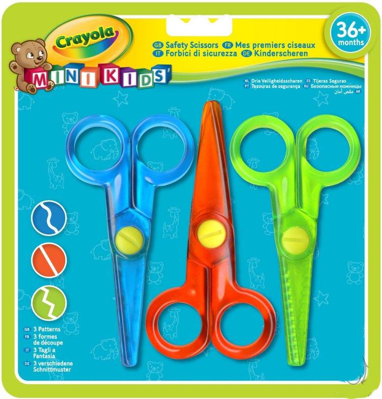 Набор безопасных ножниц с фигурными лезвиями Crayola Crayola