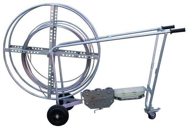 Устройство для правки проволоки, 10 роликов, передвижная установка