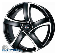 Диск Alutec Shark 6x16 4/108 ET25 D65,1 Racing Black Front Polished - фото 1