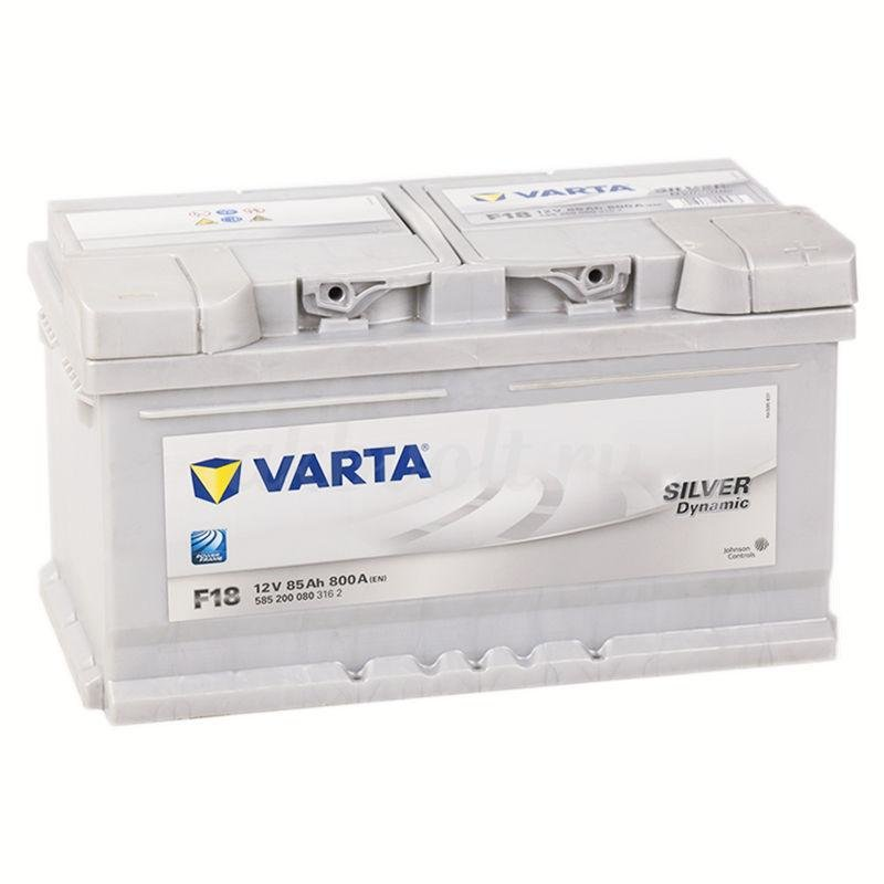 Аккумулятор Varta Silver F18 85Ач обратная полярность 585200