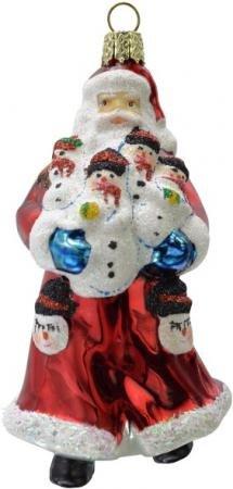 Украшение Winter Wings Дед мороз в красной шубе 10 см 1 шт красный стекло N07615