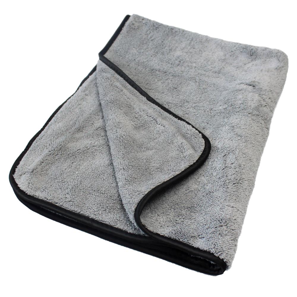 Микрофибровое полотенце для сушки кузова, серое, 500 г/м2, 40x60 см, 1194060G, MaxShine